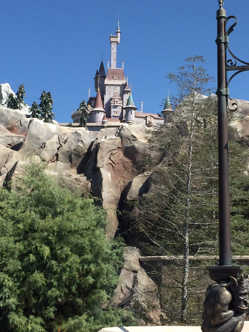 The Beast's castle exterior, above the restaurant.