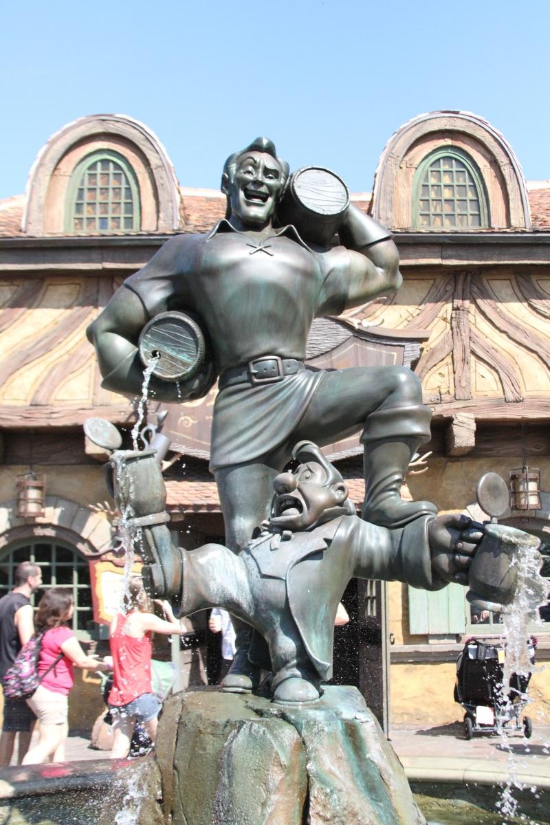 The new statue of Gaston.